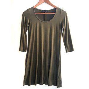 Lulu's Long Sleeve T-Shirt Dress Olive XS